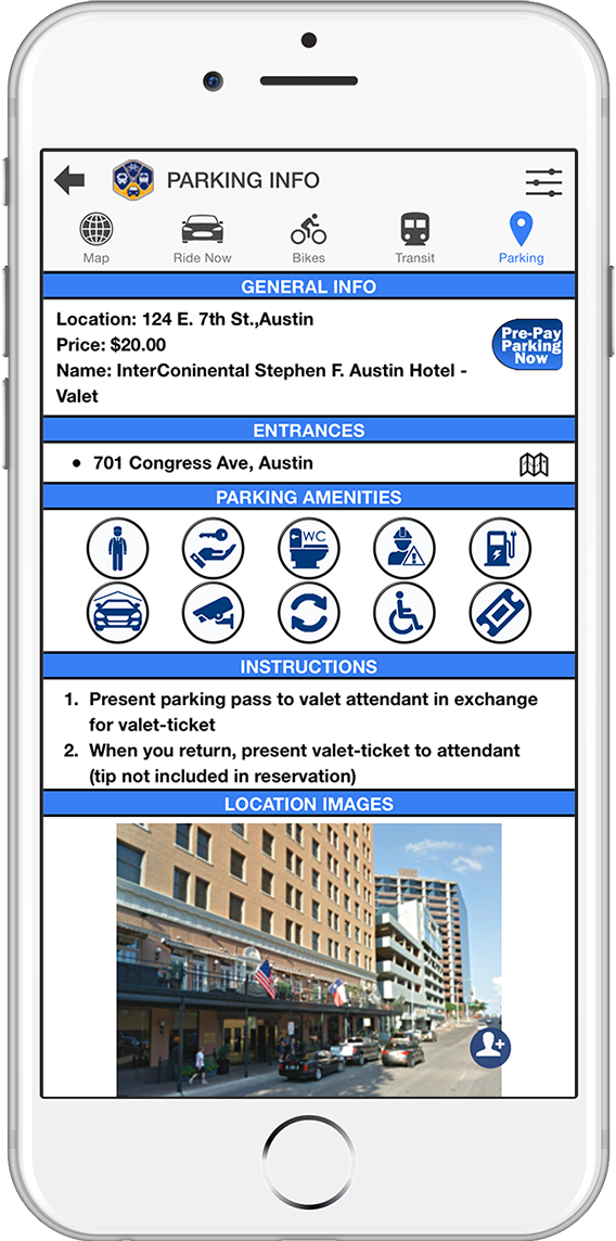 Parking Details Screenshot